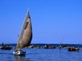 Traditional Dhow Fishing Boats in Maputo&#39;s Harbour, Maputo, Mozambique Photographic Print by Rick Gerharter