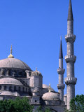 Minarets and Domes of Blue Mosque (1609-19), Istanbul, Turkey Photographic Print by Wayne Walton