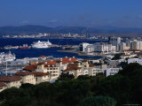 City and Harbour, Gibraltar, Gibraltar Photographic Print by Wayne Walton