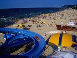 Beach Life on Baltic Coast, Miedzyzdroje, Zachodniopomorskie, Poland Photographic Print by Krzysztof Dydynski