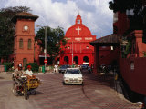 Traffic Outside Christ Church, Melaka, Malaysia Photographic Print by Richard I'Anson