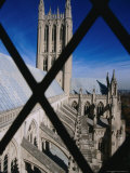 Prom Tower of National Cathedral Through Window Bars, Washington Dc, USA Photographic Print by Rick Gerharter