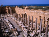 Ruins of the Roman Severan Basilica, Leptis Magna, Libya Photographic Print by Patrick Syder