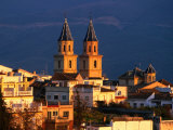 Twin Spires of Town Church, Orgiva, Andalucia, Spain Photographic Print by David Tomlinson