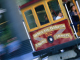 Passengers on a Trolley Car, San Francisco, California, USA Photographic Print by Ray Laskowitz