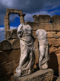 Statues of the Two Goddesses Demeter and Persephone, Cyrene, Darnah, Libya Photographic Print by Doug McKinlay