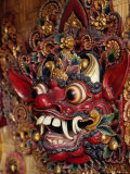 Traditional Balinese Wooden Mask for Sale in Ubud, Ubud, Indonesia Photographic Print by Adams Gregory