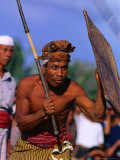 Traditional Sport of Stick-Fighting in Kuripan, Indonesia Photographic Print by John Banagan