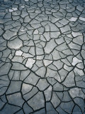 Cracked Mud, Mont St. Michel, France Photographic Print by Bethune Carmichael
