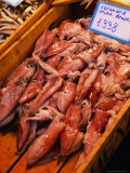 Calamari at Central Market, Athens, Attica, Greece Photographic Print by Alan Benson