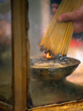 Burning Incense Sticks, Hong Kong, China Photographic Print by Ray Laskowitz
