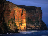Sunset Light on Old Red Sanstone Cliffs South of Rackwick Bay, Scotland Photographic Print by Grant Dixon