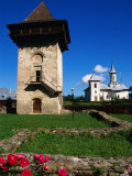 Defence Tower of Humor Monastery (1641), Humor Monastery, Suceava, Romania, Photographic Print by Diana Mayfield