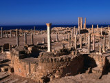 The Forum of Sabratha, an Nuqat Al Khams, Libya Photographic Print by Doug McKinlay