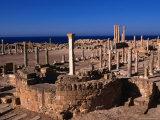 The Forum of Sabratha, an Nuqat Al Khams, Libya Photographic Print by Doug McKinlay