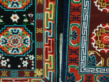 Tibetan Carpets for Sale at Market on Barkhor Square, Lhasa, Tibet Photographic Print by Richard I'Anson
