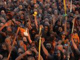 Naga Sadhus at Maha Kumbh Mela Festival, Allahabad, India Photographic Print by Anders Blomqvist
