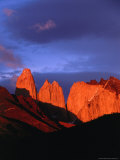 The Towers of Paine in Sunlight, Torres Del Paine National Park, Chile Photographic Print by Brent Winebrenner