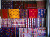 Local Fabrics on Display, Punakha, Bhutan Photographic Print by Nicholas Reuss