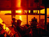 Tourists on Safari Boat, Maldives Photographic Print by Casey Mahaney
