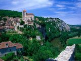 Clifftop Village Perched High Above the River Lot, St. Cirq Lapopie, Midi-Pyrenees, France Photographic Print by David Tomlinson