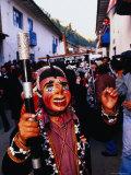 Masked Participant in Virgen Del Carmen Festival, Paucartambo, Peru Photographic Print by Ryan Fox