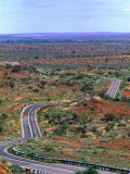 Highway Winding Through Countryside Outside Broken Hill, Broken Hill, New South Wales, Australia Photographic Print by Christopher Groenhout
