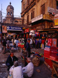 People and Street Stalls on Jawaharlal Nehru Road (Chowringhee Road), Kolkata, India Photographic Print by Richard I'Anson