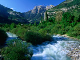 The River Ara and Mondarruego in the Pyrenees, Torla, Aragon, Spain Photographic Print by David Tomlinson