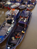 Boats on River, Melaka, Malaysia Fotografie-Druck von Richard I&#39;Anson