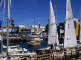 Yachts Moored in Rostock Marina, Rostock, Germany Photographic Print by Wayne Walton