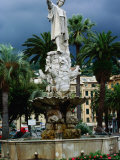 Statue of Christopher Columbus, Santa Margherita, Liguria, Italy Photographic Print by Diana Mayfield