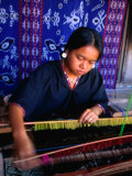 Weaver from Sukara, Lombok, West Nusa Tenggara, Indonesia Photographic Print by John Banagan