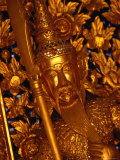 Gold Leaf Gild and Golden Statue of Guard in Grand Palace, Bangkok, Thailand Photographic Print by Setchfield Neil