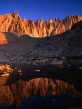 Rocky Crags in the Sierra Nevada Mountain Range and Small Lake, Inyo National Forest, USA Photographic Print by Brent Winebrenner