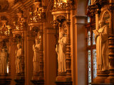 Statues of Abbots at Abbots' Hall, Palais Benedictine, the Benedictine Distillery, Fecamp, France Photographic Print by Martin Moos