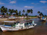 Boats on Lagoon, Marang, Terengganu, Malaysia Fotografie-Druck von Richard I&#39;Anson