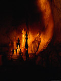 Standing Buddha Statues at Tham Phum Caves, Pak Ou Caves (Mouth of the Ou), Luang Prabang, Laos Photographic Print by Ryan Fox