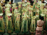Temple Offerings, Banten Tegeh, at Pura Samuan Tiga Bedulu, Gianyar, Indonesia Photographic Print by Adams Gregory