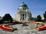 Dr Karl-Lueger-Kirche Overlooking Tomb of Dr Karl Renner at Zentralfriedhof, Vienna, Austria Photographic Print by Diana Mayfield