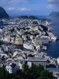 Town from Kniven Overlook on Aksla Hill, Alesund, Norway Photographic Print by Pershouse Craig