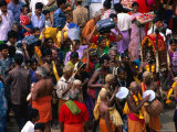 Devotees Arriving at Thai Pusam Festival, Palani, India Photographic Print by Paul Beinssen