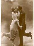 Tangoing Couple Demonstrate the Phrase to Kick up Ones Heels Photographic Print