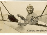 Adolphe Pegoud, French Aviator Noted for His Daring Aerobatics Including Looping the Loop Photographic Print