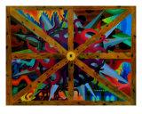 Psychodahlia Giclee Print by Todd Zohimsky