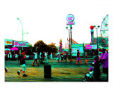 Coney Island In Neon Photographic Print by Kendall Diahann Eutemey