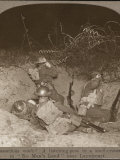 Four British Soldiers at a Listening Post in a Shell Crater in No Man's Land Near Lagnicourt Photographic Print