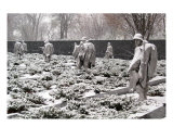 Korean War Memorial Snow Scene Photo 1 Photographic Print by William Luo
