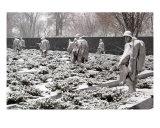 Korean War Memorial Snow Scene Photo 1 Photographic Print by William Luo