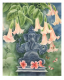 Ganesh With Daturas Giclee Print by dilip patel